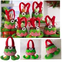 christmas bag - Xmas Bag for Children Christmas Candy bag Santa pants style Christmas Candy gift bag wedding candy tote bag Xmas Bag for Children