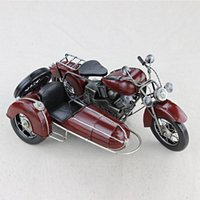 Wholesale Kua Kua child bucket wheeled motorcycle model metal car model Iron crafts retro nostalgia red gift items