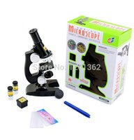 Wholesale Hot Refined Microscope Kit Chemical Laboratory Apparatus Kids Child Science Educational Toy