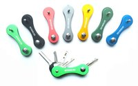 pocket folder - 2015 Smart Keychain Hard Oxide Aluminum Key Clip Folder Chain Pocket Tool CAD