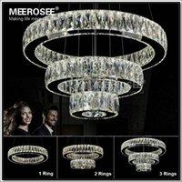 Wholesale Hot sale LED K9 Crystal Ring Pendant Light Chandelier Lamp Lustres De Cristal Suspension Modern LED Light Fixture MD2226