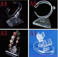 acrylic bangle stand - 20 clear acrylic bracelet holder hot selling watch bangle display jewelry holder stand rack retail shop showcase high quality EQ73