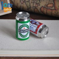 beer can case - 4pc Beer Can Metal Herb Tobacco Spice Smoking Grinder Hand Crank Crusher Layers rolling machine vaporizer Metal pipe case box