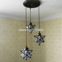 bay point - 3 Five pointed star lights Innovative pentagram Ceiling for entrance living room bedroom balcony bay window etc order lt no track