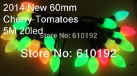 big red tomatoes - new M LED big cherry tomato lamp led light string mm high power Christmas Wedding Garden party