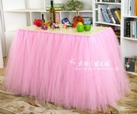 baby shower chair decorations - Completely Custom tulle tutu skirt birthday table wedding table decoration for bridal showers baby Tutu holiday party decoration cm