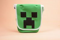 school bags - Minecraft JJ Travel Shoulder Bags Luminous Handbags Canvas New Fashion Cross boby Messenger bag Children Kids School Bag Backpacks