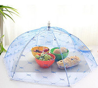 Wholesale Food Covers Umbrella Style Anti Fly Mosquito Kitchen Diameter cm Cooking Tools Meal Cover Hexagon Gauze Table Food Cover