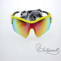 yellow frame sunglasses - Sunglasses Protection Polarized Goggles With UV400 Sports Sunglasses Yellow Frame With Black Replaceable Lens Good Promotion