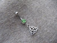 Wholesale Ancient silver Celtic Knot Belly Button Rings Navel jewelry lucky belly button jewelry friendship belly rings