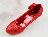 ali leather - New Arrived bride and wedding shoes classic chinese style cheongsam shoes red high heel bridal shoes ali