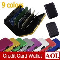 Wholesale Hot sell Aluminium Credit card wallet cases card holder bank case colors waterproof