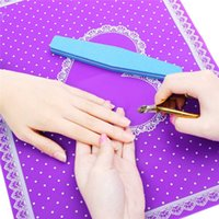 beauty salon table - Pro Nail Art Equipment Advanced Silicone Table Mat Pad Cute Point Lace Silicone Foldable Washable Salon Manicure Beauty Tools