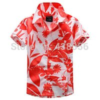 aloha shipping - new arrival fashion aloha shirt Hawaiian shirt floral shirt for boy cotton Group A
