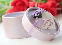 Wholesale 300pcs European cylinder lavender candy box