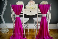 Wholesale In stock Colorful Beautiful Chiffon Ruffles Chair Sash Wedding Decorations Anniversary Party Banquet Accessory