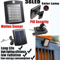 outdoor motion detector - LED Solar Lamps for Garden Waterproof Outdoor Lighting with Motion Detector Function PIR Security Year Warranty Protection