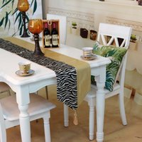 Wholesale high end fashion PU patchwork colored zebra table runner home decor table flag