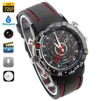 Wholesale 2014 Camcorders Wrist Watch HD x Mini DV old Waterproof Watch Spy Built in GB Memory fps Waterproof and Night Vision Audio Video