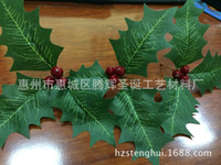 artificial plant manufacturers - Manufacturers supply simulation Christmas red berries leaf leaf plant simulation artificial red berries leaf simulation fruit holly YE