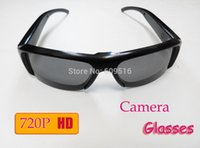 Wholesale NEW HD P MP Cam Eyewear Glass Video Camera Mini DV dvr camera Sunglass Camcorder Audio recorder Retail Box