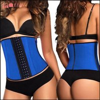Wholesale Waist Trainer Latex Corset Female Plus Size Espartilho Corpete Corset Espartilho Waist Training Corsets For Sale Chest Binder