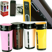 automatic milk - New Rechargeable USB Electric Heating Automatic Stirring Insulated Coffee Milk Tea Travel Mug Thermos Cup Lid Warmer Free Ship