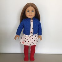 Wholesale set Fashion Dress Suit For Inch American Girl Doll American Girls Clothes