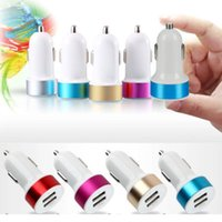 Wholesale New Mini Bullet Dual USB Port Car Charger Adaptor for iPhone Samsung Smartphone