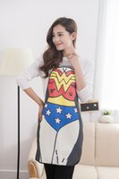 Wholesale Supergirl Superman Apron inches Armors Polyester Comics Character Cartoon super woman creative Couples apron gift