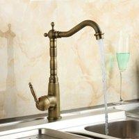 antique bronze kitchen faucets - 2016 Vintage Kitchen Faucet Antique Bronze Brass Basin Mixer Tap Antique Swivel Faucets A