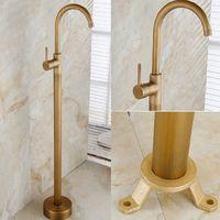 antique faucet valve - And Retail Luxury Antique Brass Bathroom Tub Faucet Single Handle Hole Valve Mixer Tap Bathroom Tub Faucet