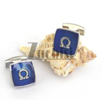 Wholesale New Arrival Excellent Classic Blue Cooper Cufflinks Fashion Cool Copper Cuff Links Great Gifts for Men Luxury Accessoris for any Occassions