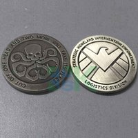 Wholesale Agents of shield S H I E L D Hydra Metal Double Commemorative Coin mm Skull American Challenge Coin