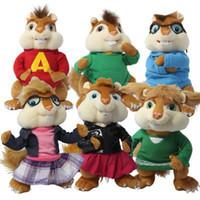 alvin theodore chipmunks - Alvin and the Chipmunks plush toys cm cm Alvin Simon Theodore Brittany Jeanette Eleanor Plush doll