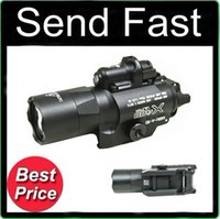 tactical flashlight - Tactical SF X400U Ultra LED Weapon Light Flashlight With Red Laser Black lumens light