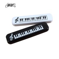 Cheap Free shipping Fashion Music pencil Case Piano Keyboard pencil Cases Exquisite note pattern small plastic pencil cases 2 colours
