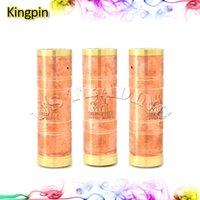 Wholesale Copper Brass Kingpin Mod E Cigarette Machanical Mods Clone Kingpin by Masterpiece Custom Vapes Authentic Philippine Made
