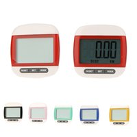 Wholesale Multi Function LCD Display Sports Fitness Pedometer Big Screen Step Calorie Counter Walking Motion Tracker Run Distance