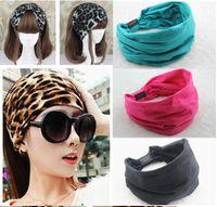 Wholesale 2015 New variety of wear method Cotton Elastic Sports Wide women Headbands for women hair accessories turban headband headwear hot sales