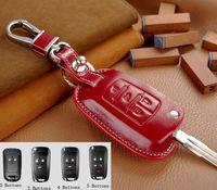 Wholesale genuine leather Key Cover For chevrolet Cruze AVEO SAIL TRAX MALIBU CAPTIVA Etc Leather flip key holder car remote case leather keychain