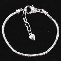 Wholesale Silver plated copper alloy chain bracelet lobster clasp DIY accessories accessories section extend chain bracelet accessories basic models