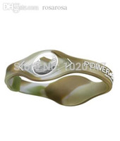 balance magnetic bracelet - camouflage Power Energy Hologram Bracelet Wristbands Keep Balance Ion Magnetic Therapy Fashion Silicone Bands