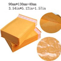 Wholesale 100 pack Yellow Bubble Envelope Wrap Bag Pouches Packaging PE Bubble Bags Kraft Bubble Mailers Pad mm jk7107