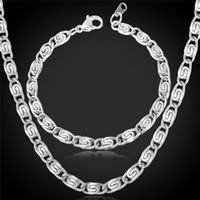 Bracelet,Earrings & Necklace african items - 2013 New Items L Stainless Steel Chunky Chains Necklace Bracelets For Men Cool Jewelry Sets NEVER FADE MM CM YLS202