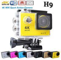 Wholesale Original Eken H9 Wifi Ultra HD K Video degrees Wide Angle Sports Camera inch Screen p fps Gopro hero action Camera like