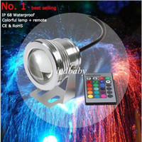 led underwater fishing light - 16 Colors W V RGB LED Underwater Fountain Light LM Swimming Pool Pond Fish Tank Aquarium LED Light Lamp IP68 Waterproof