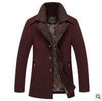 australia jacket - Fall new winter Australia wool coat in the high end business men s long Fleece Jacket