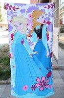 Wholesale FROZEN big bath towel Elsa Anna OLAF cartoon movie cotton Princess towels children baby beach towel kids girl boy robes designs jessie06