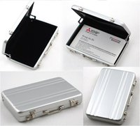 Wholesale ID Holders Password Aluminium Credit Card Holder Mini Briefcase Business Card Case